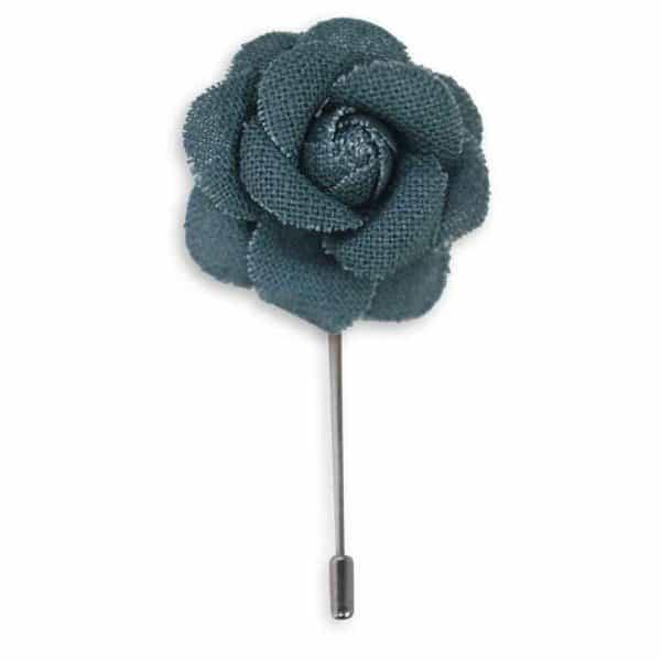 Lapel pin ดอกไม้สีฟ้า LP-25 1