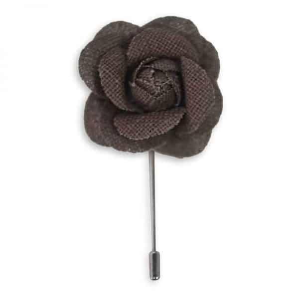 Lapel pin ดอกไม้สีน้ำตาล LP-30 1