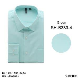 เสื้อเชิ้ตสีเขียว Green SH-B333-4