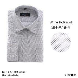 เสื้อเชิ้ตสีขาวลายจุด SH-A19-4